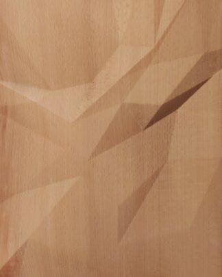 Wooden wall art Triangulated waves
