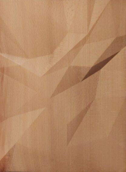 Wooden wall art Triangulated waves