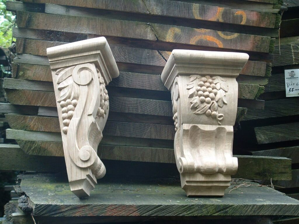 Wood Carving Oak Corbel