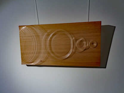 wooden wall art skipping stone