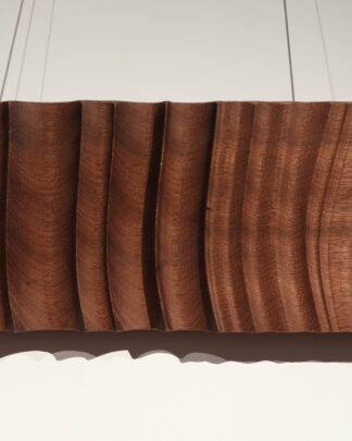 Wood Wall art Beaching waves