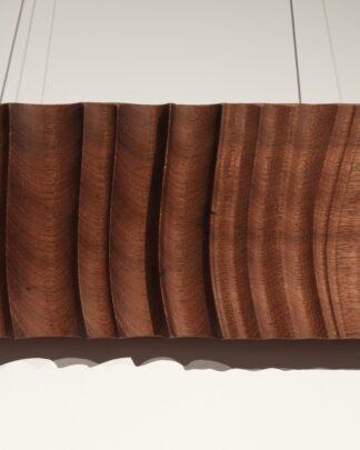 Wood Wall art Beaching waves