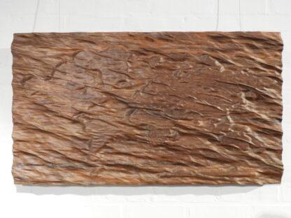 Wooden wall art world waves